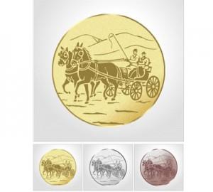 Emblema centro escarapela Premium Enganche 5cm