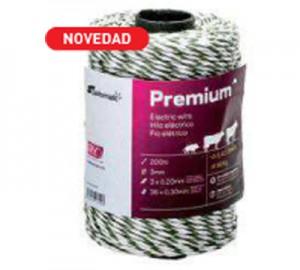 Cuerda cercado Pastormatic Premium verde/blanco 3mm 200mts