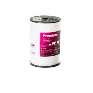 Cinta cercado Pastormatic Premium blanca 12mm