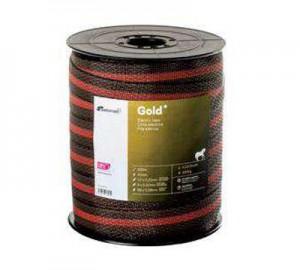 Cinta cercado Pastormatic Gold rojo/negro 40mm 200mts