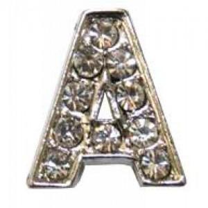 Letra A C/cristales P/frontalera