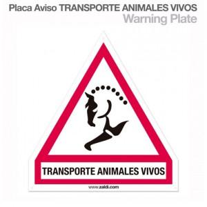 Rotulo Transporte Caballos triangulo