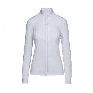 Camisa concurso Cavalleria Toscana Embossed Stripe LS Shirt With BIB